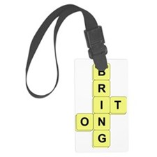 BananaGram_front Large Luggage Tag