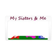 sisterNme-on-white License Plate Holder
