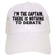 NOTHING TO DEBATE RECTANGLE Baseball Cap