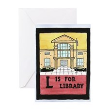 LisforLibraryJournal Greeting Card