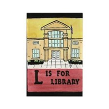 LisforLibraryJournal Rectangle Magnet