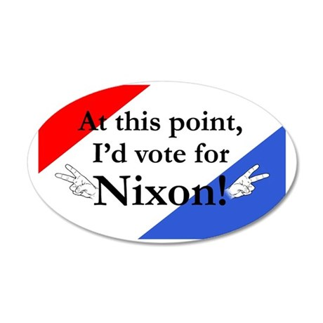 Nixon Red, White Blue 35x21 Oval Wall Decal
