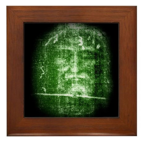 Jesus - Shroud of Turin Framed Tile