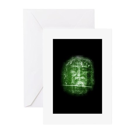 Jesus - Shroud of Turin Greeting Cards (Package of