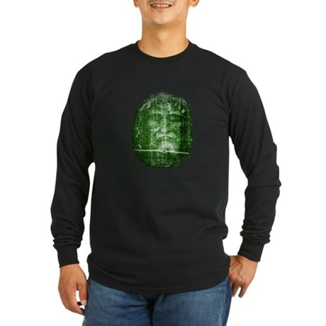 Jesus - Shroud of Turin Long Sleeve Dark T-Shirt