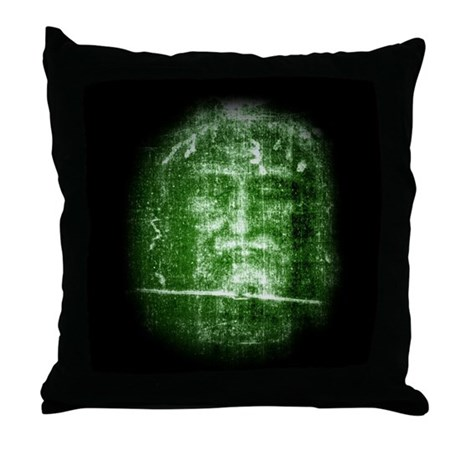 Jesus - Shroud of Turin Throw Pillow