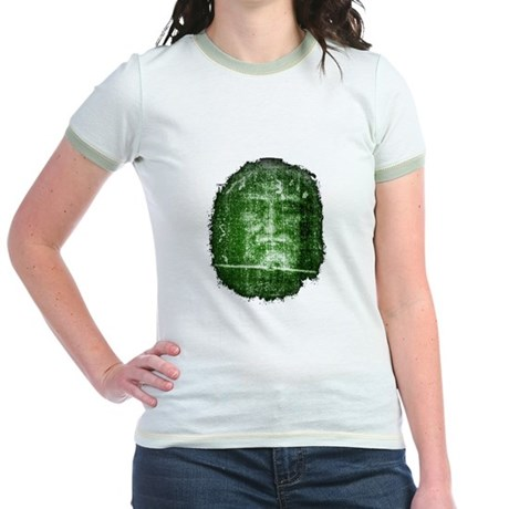 Jesus - Shroud of Turin Jr. Ringer T-Shirt