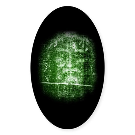 Jesus - Shroud of Turin Oval Sticker