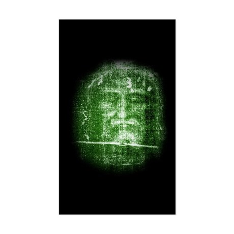 Jesus - Shroud of Turin Rectangle Sticker
