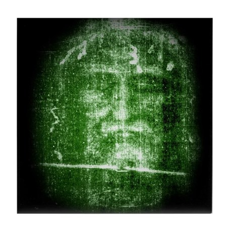 Jesus - Shroud of Turin Tile Coaster