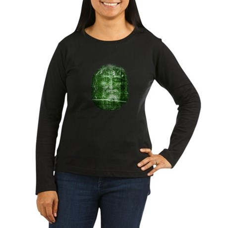 Jesus - Shroud of Turin Women's Long Sleeve Dark T