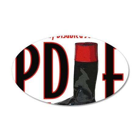 pdjf logo white backgrd 35x21 Oval Wall Decal