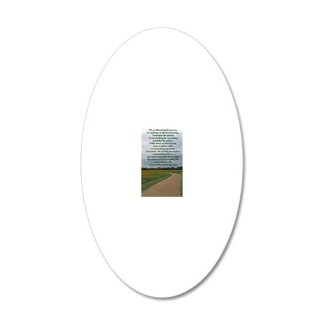 answersquestionsjournal 20x12 Oval Wall Decal