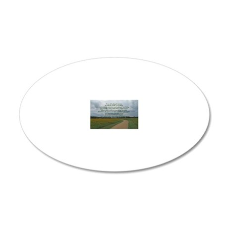 answersquestionsrect 20x12 Oval Wall Decal