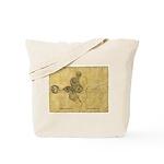 Celtic Spiral Manuscript Tote Bag