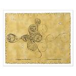 Celtic Spiral Manuscript Small Poster