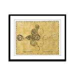 Celtic Spiral Manuscript Framed Panel Print