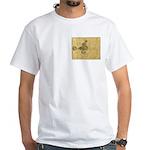 Celtic Spiral Manuscript White T-Shirt