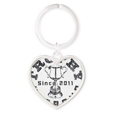 Trophy Husband 2011 Gray Heart Keychain