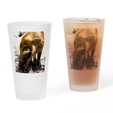 (15s) Pig Profile  1966 Drinking Glass