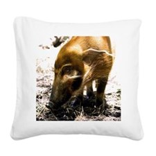 (15s) Pig Profile  1966 Square Canvas Pillow