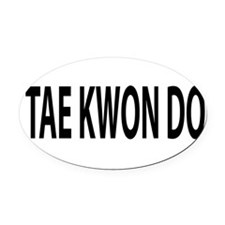 TKD Oval Car Magnet