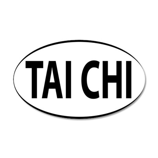 TAI CHI 35x21 Oval Wall Decal