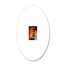 golden pu ipad 20x12 Oval Wall Decal
