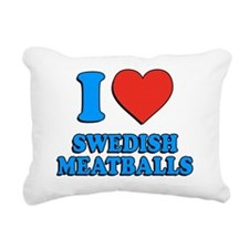 I Love Swedish Meatballs Rectangular Canvas Pillow