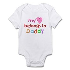 My Heart Belongs to Daddy (A) Infant Bodysuit