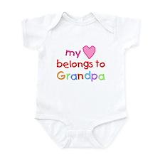 My Heart Belongs to Grandpa (A) Infant Bodysuit