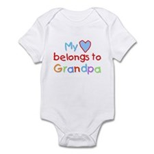 My Heart Belongs to Grandpa (B) Infant Bodysuit