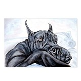 Great Dane Sofa Dreams BLK Postcards (Package of 8