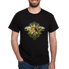 Golden Emblem of Wealth T-Shirt