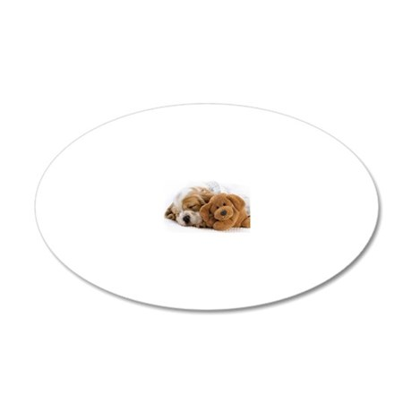 shih tzu rec magnet 20x12 Oval Wall Decal