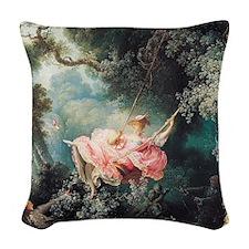 fragonard-swing_sb Woven Throw Pillow