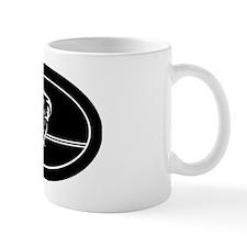 poolman_white 5x3oval_sticker Mug