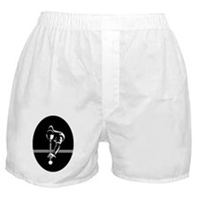 poolman_white ornament_oval Boxer Shorts