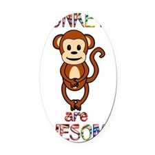 monkeyawesome Oval Car Magnet