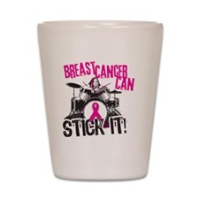 Troys No Box Breast Cancer Shot Glass