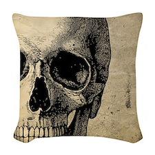 OldSkull_ipad Woven Throw Pillow