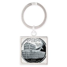quarter_kentucky_600 Square Keychain