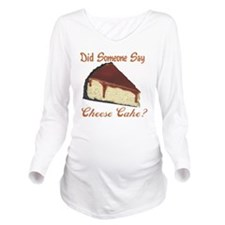 cheese cake Long Sleeve Maternity T-Shirt