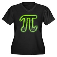 pi Women's Plus Size Dark V-Neck T-Shirt