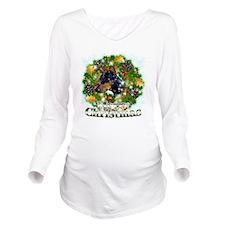 Merry Christmas Dobe Long Sleeve Maternity T-Shirt