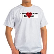 Heart on for Conan Ash Grey T-Shirt