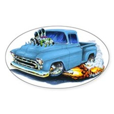 1957 Chevy Pickup Lt Blue Decal