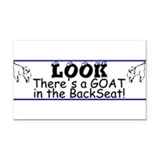 Cute Goats Rectangle Car Magnet