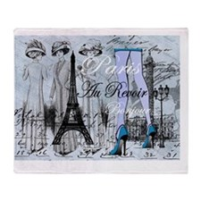 Paris necklace collage Gails 4 BLUE Throw Blanket