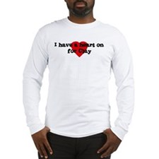 Heart on for Clay Long Sleeve T-Shirt